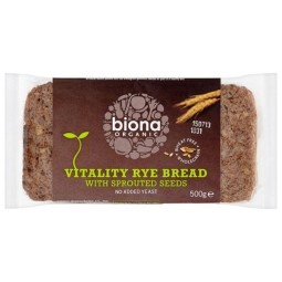 Rye Vitality Bread with sprouted seeds