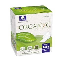 Organyc menstrual pads for night