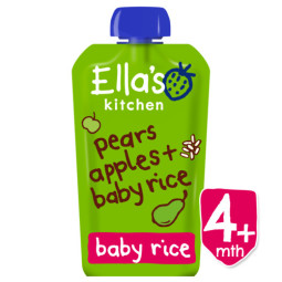 Pears, apples and baby rice ORGANIC
