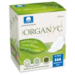 Organyc menstrual pads with wings