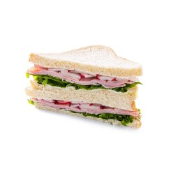 Sandwich with ham & radish