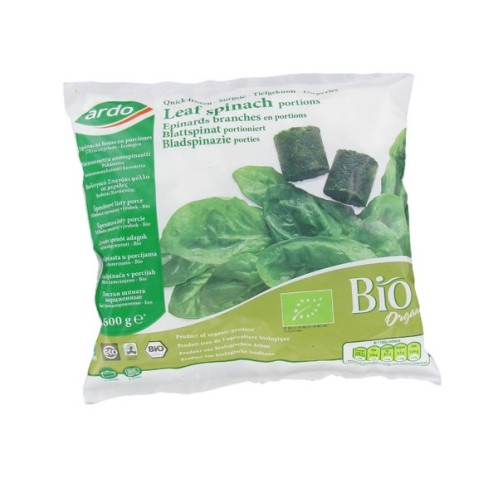 Leaf spinach frozen portions