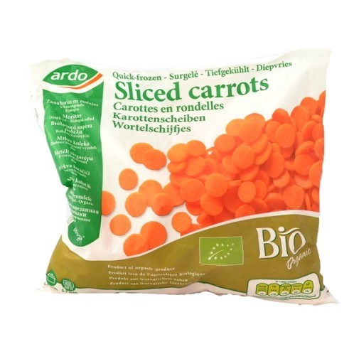 Sliced carrots frozen