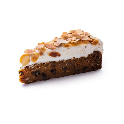 Carrot cake with whipped curd cream